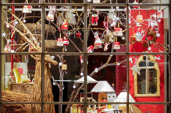 weihnachtsdeko für balkontür